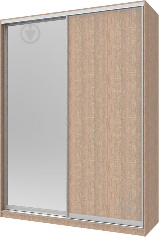 Шафа-купе Сіті24 Doros 1800x600x2400 мм дуб сонома двері ДСП/дзеркало