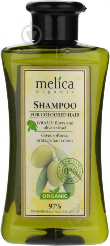 Шампунь органічний Melica Шампунь Oranic для фарбованного волосся з УФ-фільтрами та екстрактом оливок 300 мл - фото 1