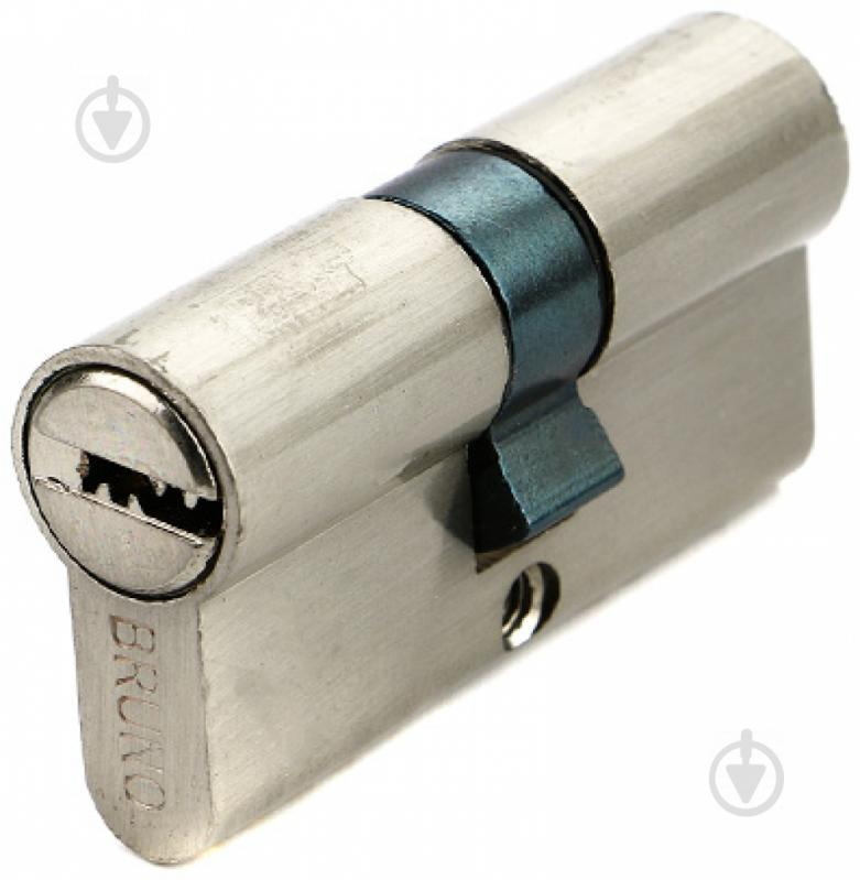 Цилиндр Bruno 30x30 ключ-ключ 60 мм никель