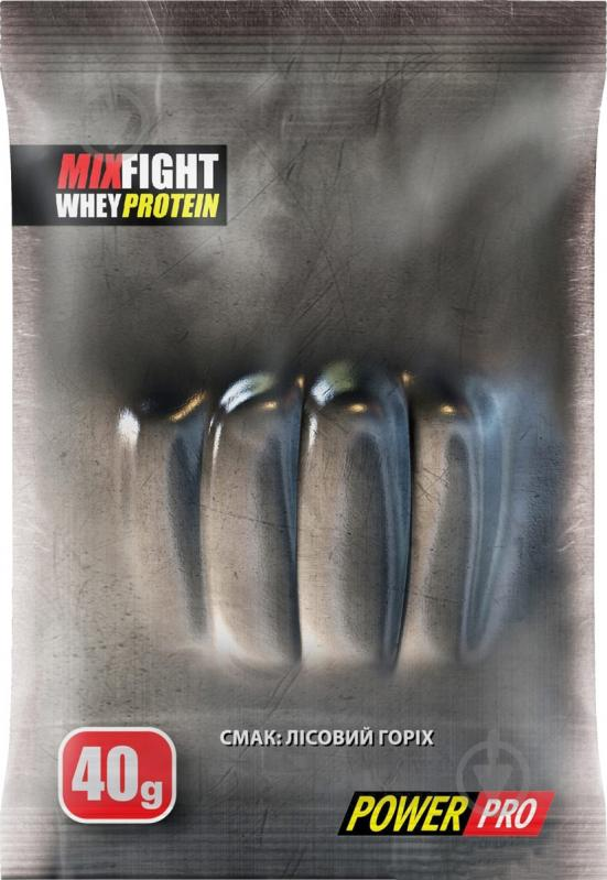 Протеїн POWER PRO Добавка дієтична до раціону харчування спортсменів. Суміш білків « MIX FAIGHT» 1000 г лісовий горіх - фото 1