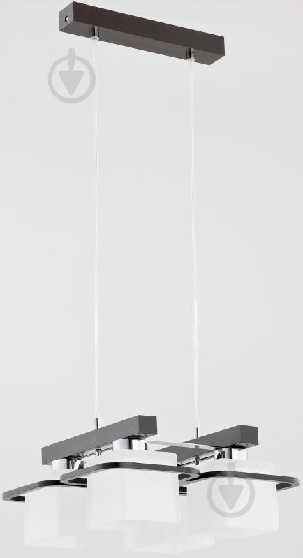 Люстра подвесная ALFA Anton 20654 4x60 Вт E27 черный/белый - фото 1