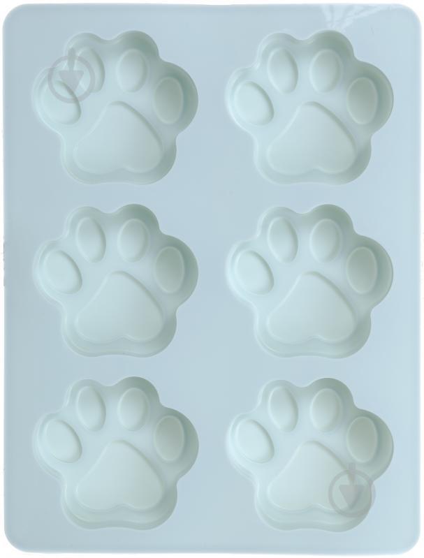 Форма для кексов Лапки 18.5х14х1.7 см 6 шт. 51618444 Flamberg Smart Kitchen