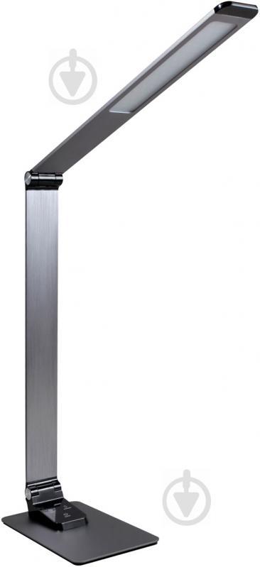 Настільна лампа офісна Светкомплект LED TB 009 Charge 9 Вт сірий - фото 1