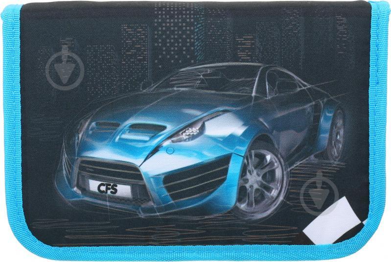 Пенал шкільний Машина чорно-блакитний - фото 2