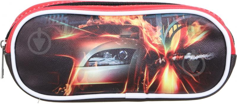 Пенал шкільний Машина червоний із малюнком - фото 2