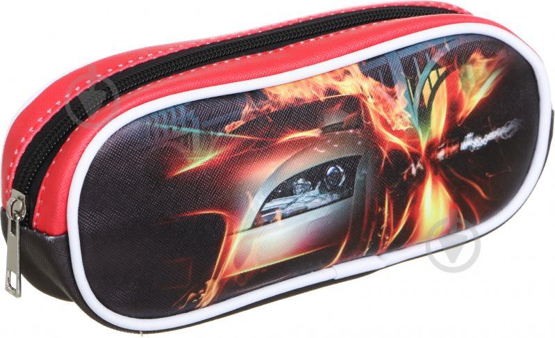 Пенал шкільний Машина червоний із малюнком - фото 1