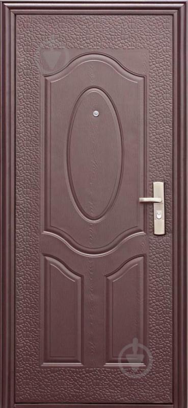 Двері вхідні Е40М ФВ коричневий 2050х860мм ліві