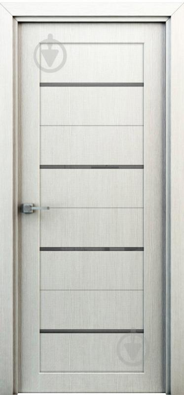 Дверне полотно Інтер'єрні двері Оріон ПГО 600 мм перламутр - фото 1