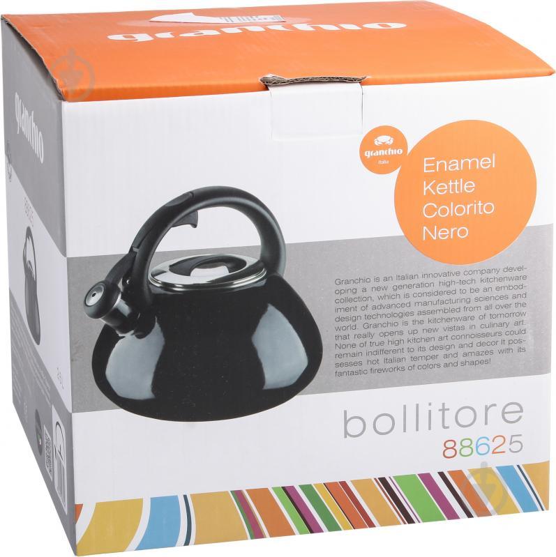 Чайник Bollitore Colorito Nero 2,6 л 88625 Granchio - фото 3