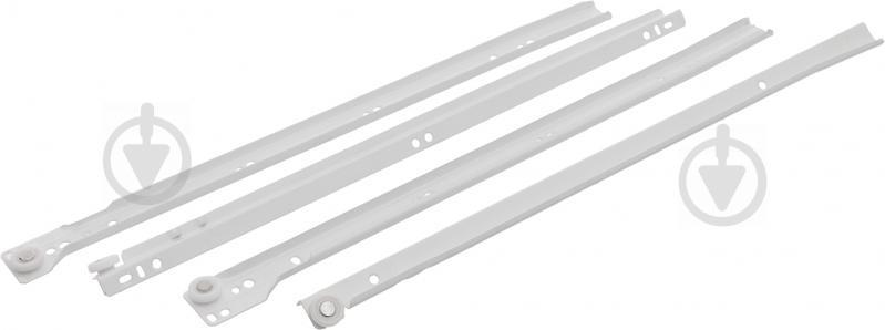 Комплект направляючих  Стандарт білий 450 мм товщина 1 мм