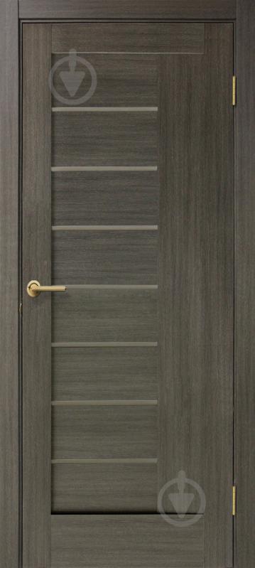 Дверне полотно ПВХ ОМіС Феліція ПО 800 мм мокко - фото 1