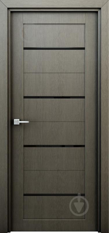 Дверне полотно Інтер'єрні двері Оріон ПО 600 мм сірий - фото 1