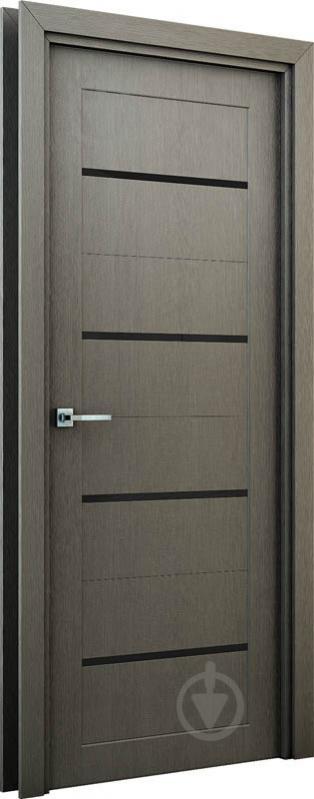 Дверне полотно Інтер'єрні двері Оріон ПО 600 мм сірий - фото 2