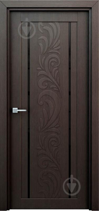 Дверное полотно Интерьерные двери Весна ПО 600 мм венге - фото 1