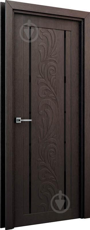 Дверное полотно Интерьерные двери Весна ПО 600 мм венге - фото 2