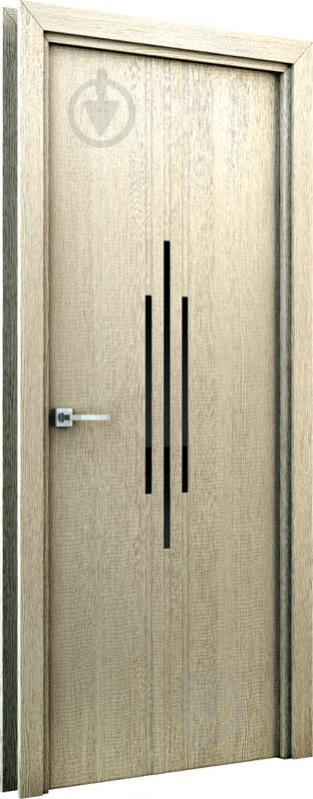 Дверне полотно Інтер'єрні двері Сафарі ПО 600 мм капучино - фото 2