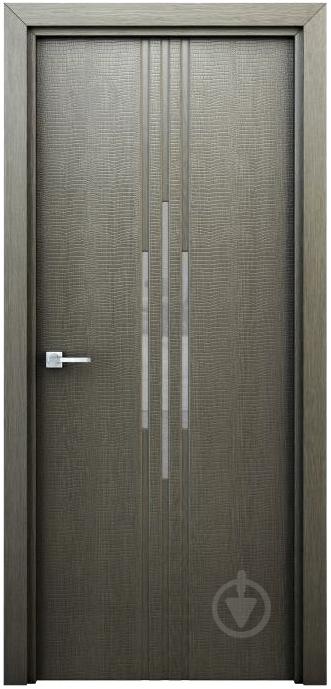 Дверне полотно Інтер'єрні двері Сафарі ПО 800 мм сірий - фото 1