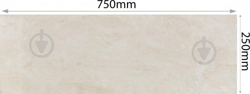 Плитка Карпатська Кераміка Глорія бейге 25х75 - фото 3