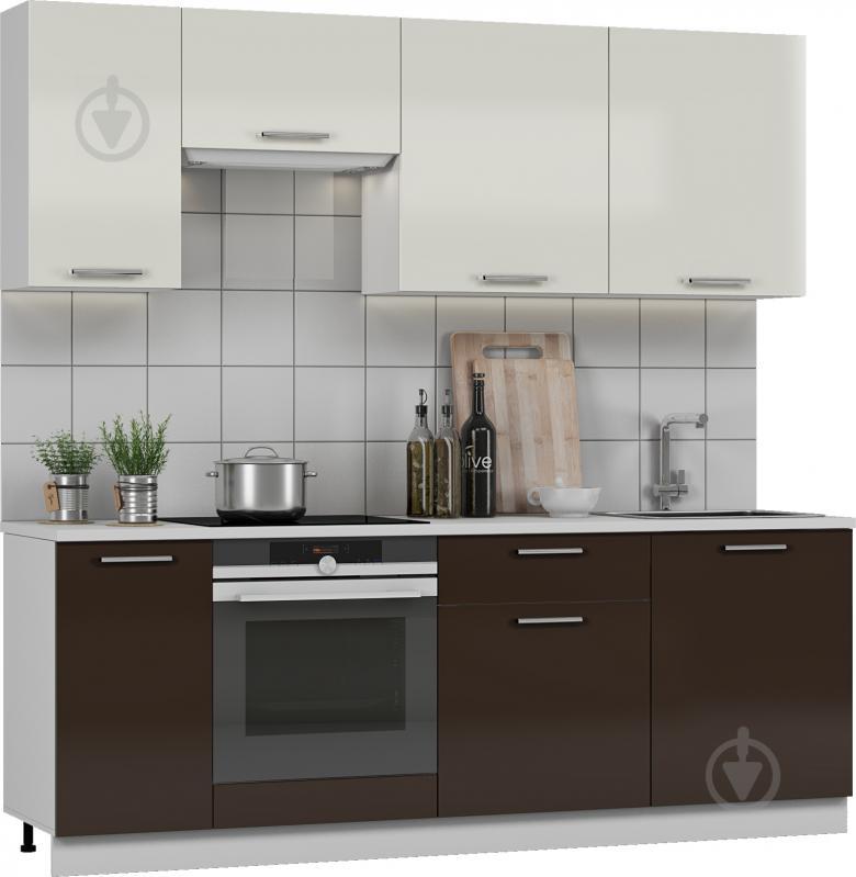 Кухня Грейд-Плюс Шоколад МДФ 2,2 м