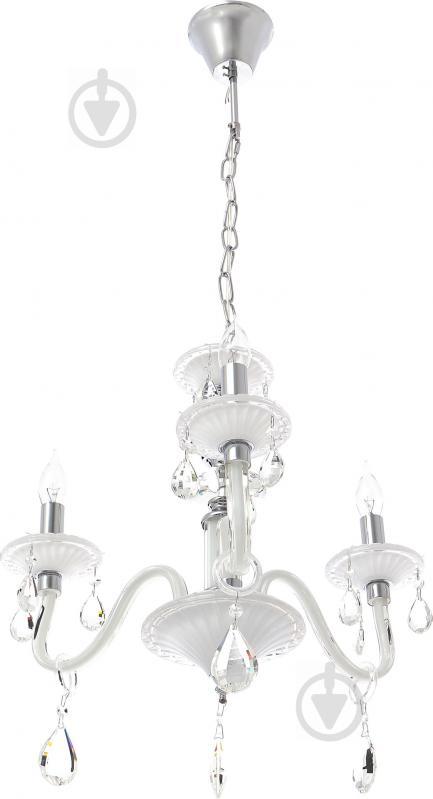Люстра подвесная Victoria Lighting 3x40 Вт E14 белый Arumi/SP3 - фото 1