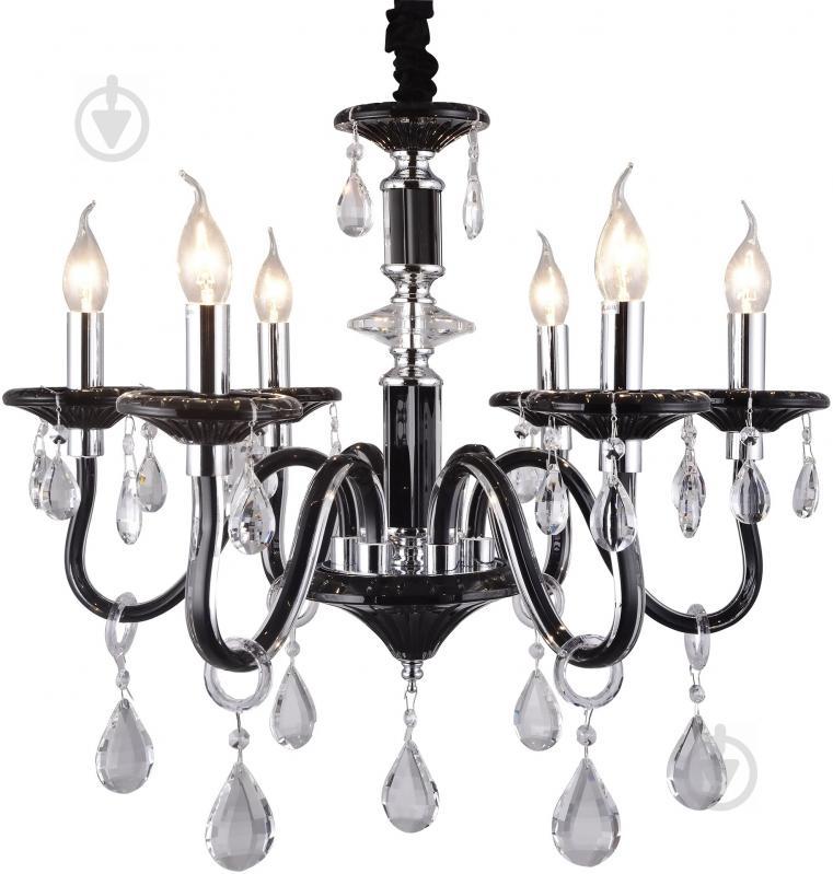 Люстра подвесная Victoria Lighting 6x40 Вт E14 черный Arumi/SP6 - фото 1