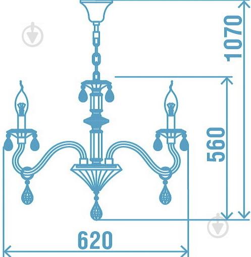Люстра подвесная Victoria Lighting 6x40 Вт E14 белый Arumi/SP6 - фото 19