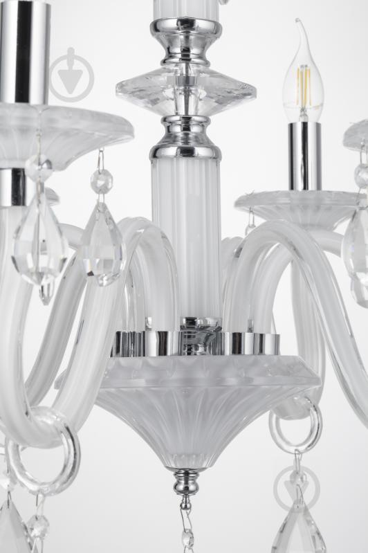 Люстра подвесная Victoria Lighting 6x40 Вт E14 белый Arumi/SP6 - фото 14