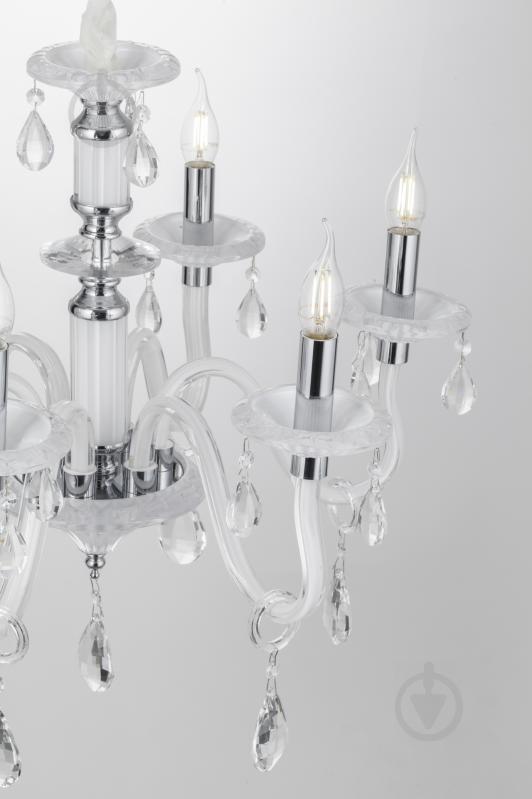 Люстра подвесная Victoria Lighting 6x40 Вт E14 белый Arumi/SP6 - фото 3