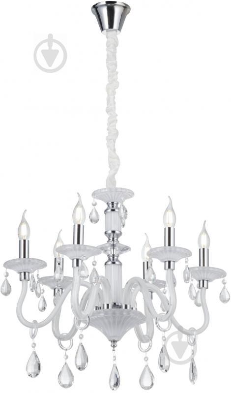 Люстра подвесная Victoria Lighting 6x40 Вт E14 белый Arumi/SP6 - фото 1