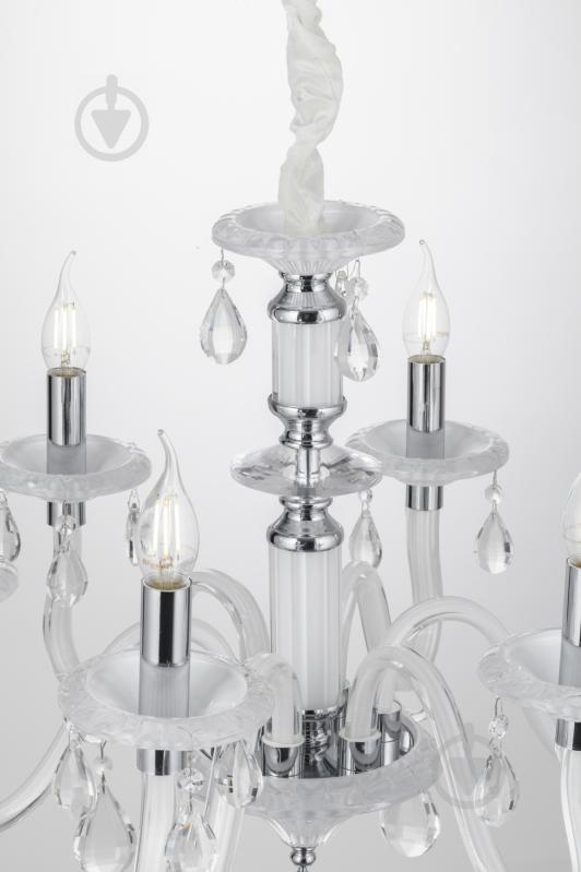 Люстра подвесная Victoria Lighting 6x40 Вт E14 белый Arumi/SP6 - фото 5