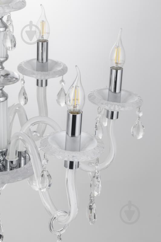 Люстра подвесная Victoria Lighting 6x40 Вт E14 белый Arumi/SP6 - фото 7