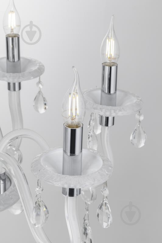 Люстра подвесная Victoria Lighting 6x40 Вт E14 белый Arumi/SP6 - фото 6