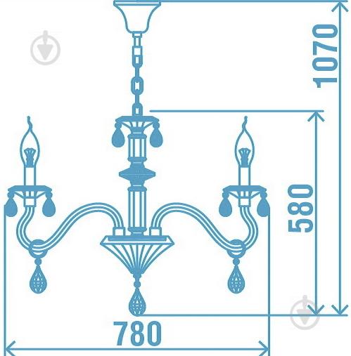 Люстра подвесная Victoria Lighting 8x40 Вт E14 черный Arumi/SP8 - фото 17