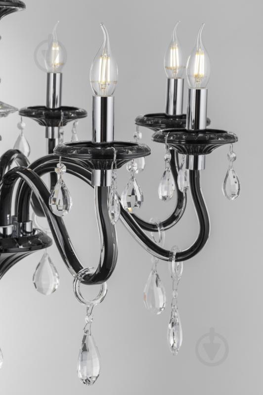 Люстра подвесная Victoria Lighting 8x40 Вт E14 черный Arumi/SP8 - фото 14