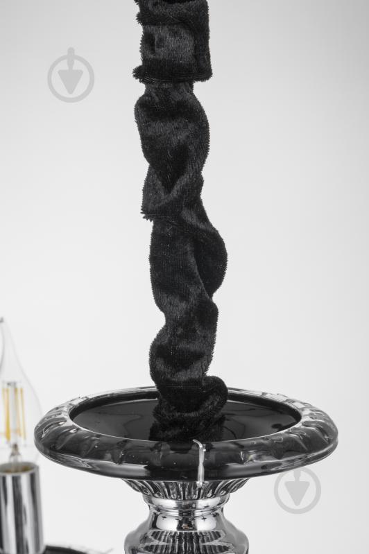 Люстра подвесная Victoria Lighting 8x40 Вт E14 черный Arumi/SP8 - фото 9