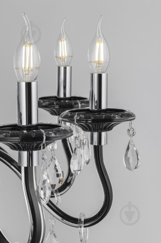 Люстра подвесная Victoria Lighting 8x40 Вт E14 черный Arumi/SP8 - фото 15