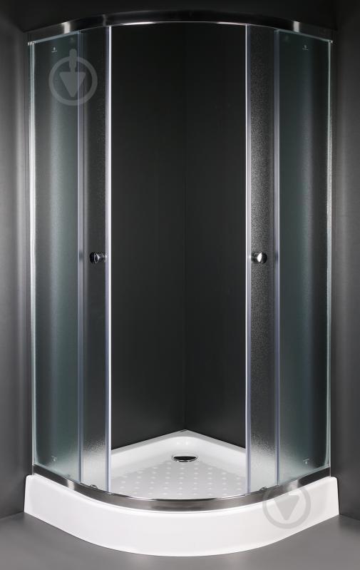 Душевая кабина EGO Quadrant Fine 90x90 профиль хром,стекло матовое - фото 1