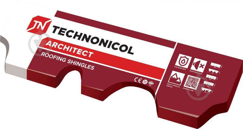 Битумная черепица TECHNONICOL Финская Аккорд красная 3 кв.м комплект 10 + 2 - фото 5