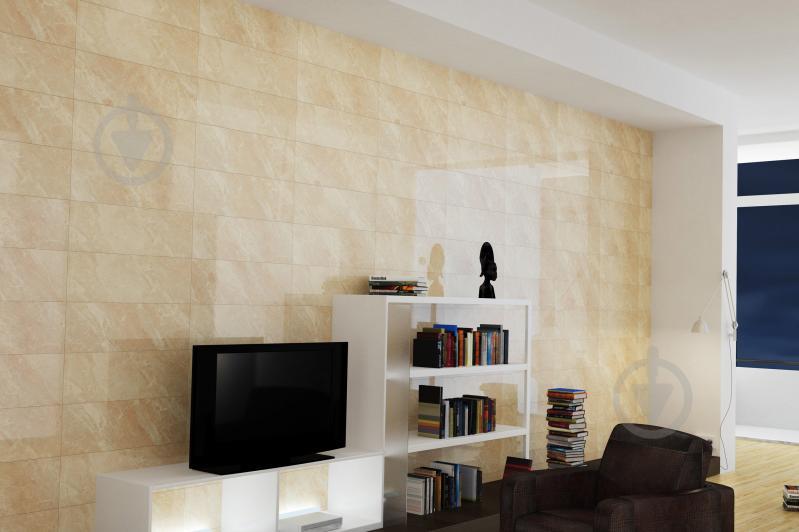 Плитка Golden Tile Eina бежевая 791010 25x75 - фото 3