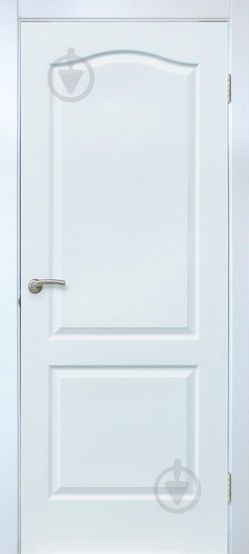 Дверне полотно ОМіС Класика ПГ 800 мм білий структурний - фото 1