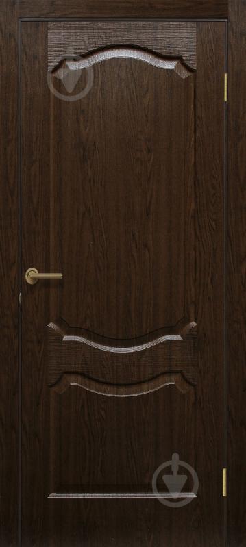 Дверне полотно ПВХ ОМіС Прима ПГ 600 мм каштан - фото 1