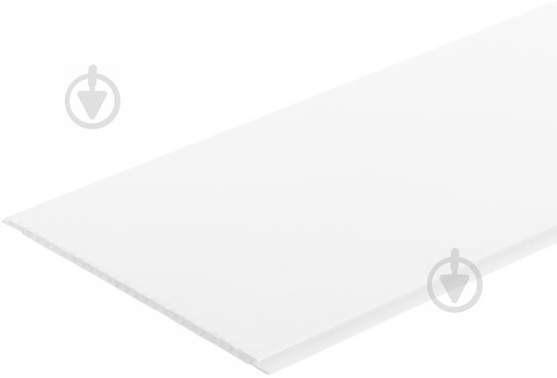 Панель ПВХ EP001 белый глянец 7x250x2970 мм (0,7425 кв.м) - фото 1
