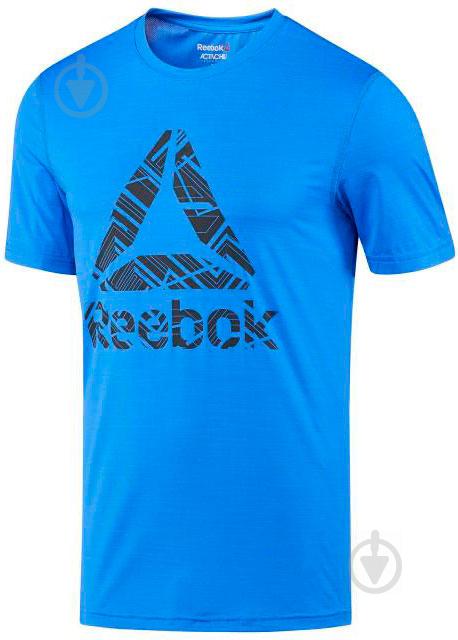 Футболка Reebok р. XL синий BQ3855 - фото 1