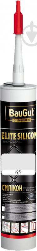 Герметик силиконовый BauGut Silicon Elite 65 белый 300мл - фото 1