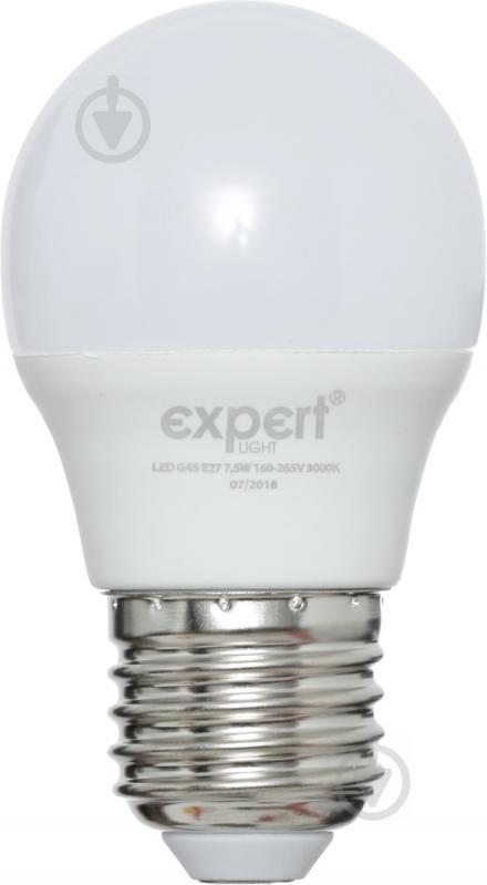 Лампа светодиодная Expert 7,5 Вт G45 матовая E27 220 В 3000 К