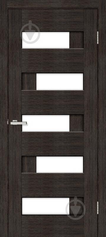 Дверне полотно ПВХ ОМіС Доміно-R ПО 700 мм венге - фото 1