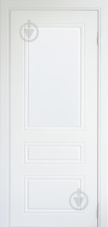Дверне полотно Dverona Fresato №703 ПГ 800 мм білий - фото 1