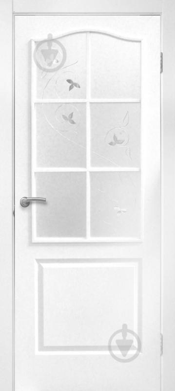 Дверне полотно ОМіС Класика ЗС+КМ 700 мм білий структурний - фото 1