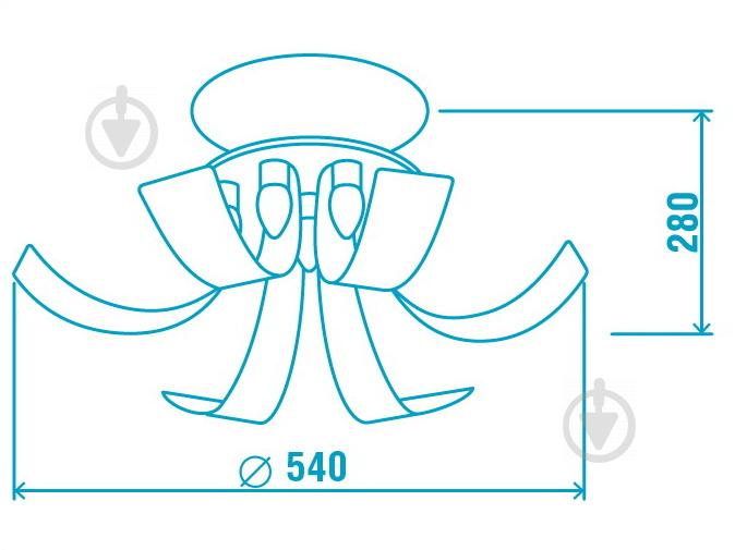 Люстра потолочная Victoria Lighting 7x40 Вт G9 черный Fountain/PL6+1 - фото 3
