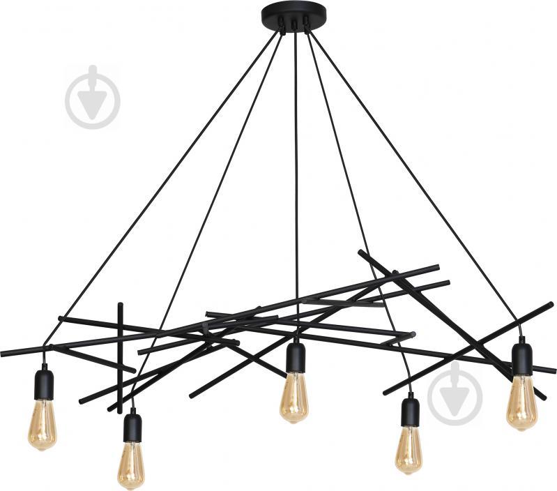 Люстра підвісна Victoria Lighting 5x60 Вт E27 чорний Dante/SP5 - фото 1